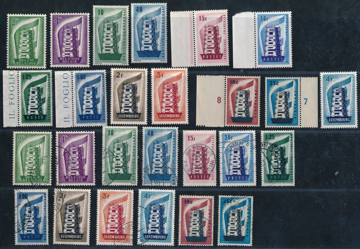 Europe CEPT 1956/1957 - Years 1956 & 1957, complete