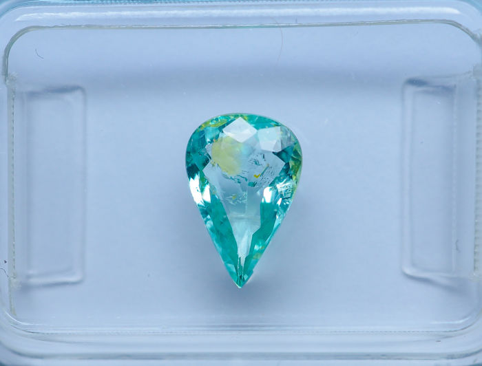Greenish Blue - Paraiba Tourmaline - 0.91 ct - No Reserve