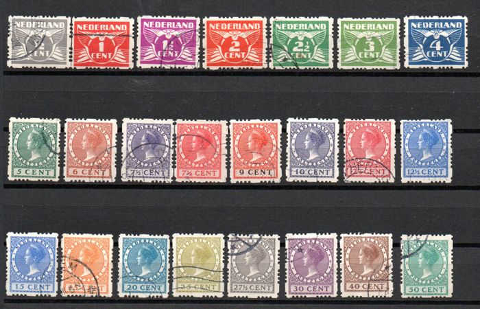 Netherlands 1928 - Four-sided syncopated perforation - NVPH R33/R56