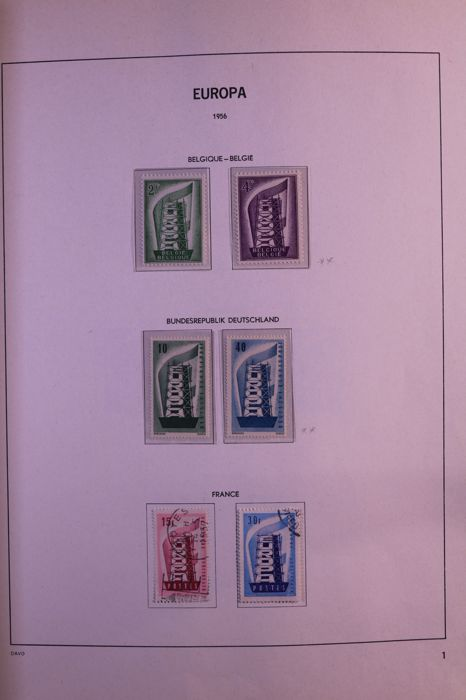 CEPT/Europa Stamps 1956/1987 - Advanced collection in Davo standaEuropa Stampsrd album