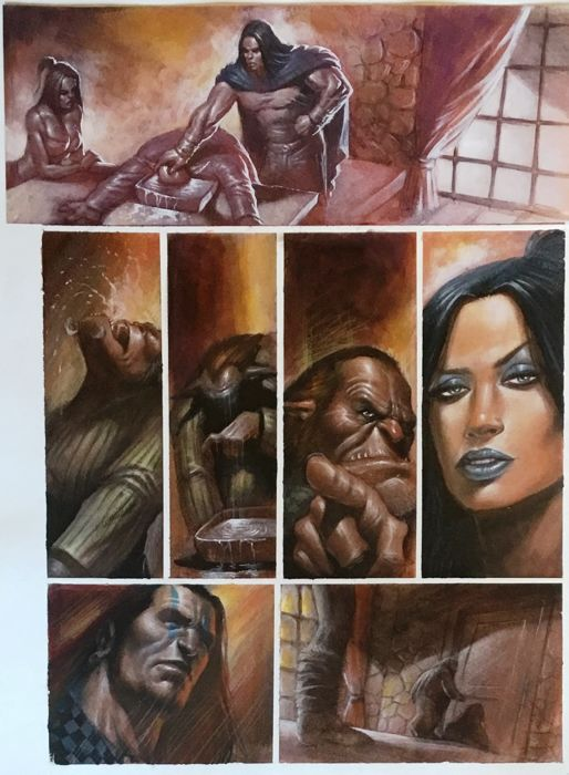 S.K.P. - Lucio Parrillo - Painted Page - Loose page - First edition (2013)