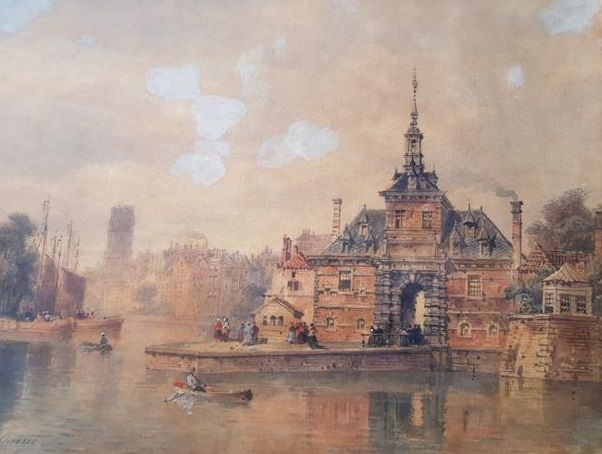 Pierre Justin Ouvrie (1806-1879) Hoofdpoort Rotterdam