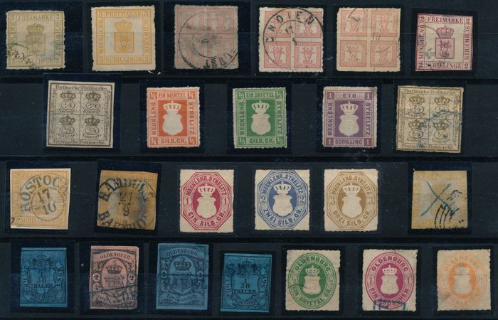 Old Germany & German colonies 1860/1950 - treasure trove on 20 stock cards  with many rare stamps from Germany - Catawiki