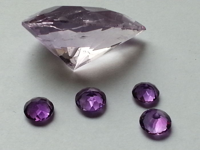 Amethyst - 39,85 cts total - 5 pieces