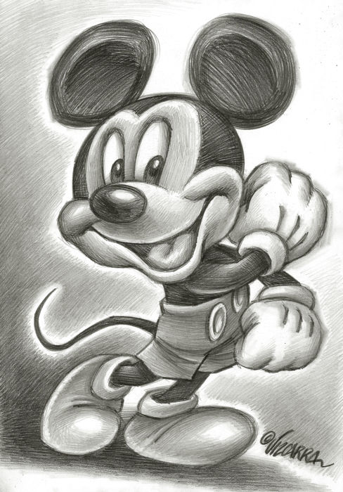 Happy Mickey - Original Drawing - Joan Vizcarra - First edition