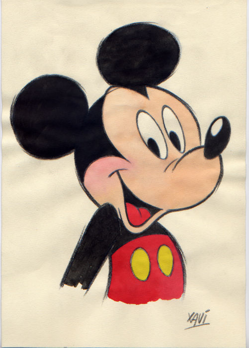 Xavi - Original sketch - MIckey smiles - First edition - (2017)