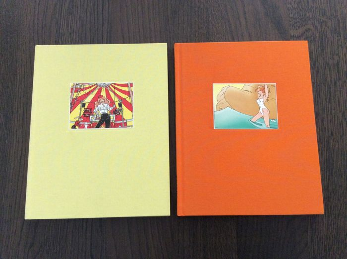 Franka luxe uitgave - Het Portugese goudschip + Circus Santekraam - Hardcover - First edition - (1996/2002)