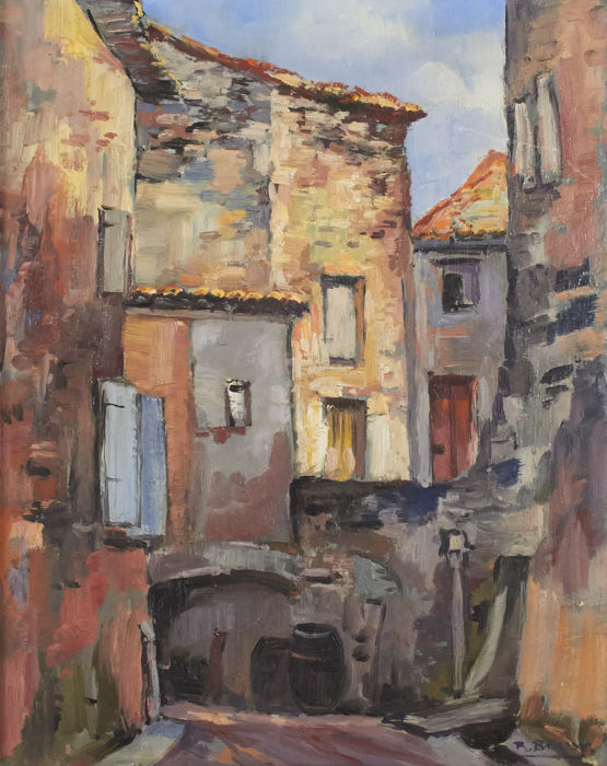 Richard Bressy (1906-1980) - Village de provence