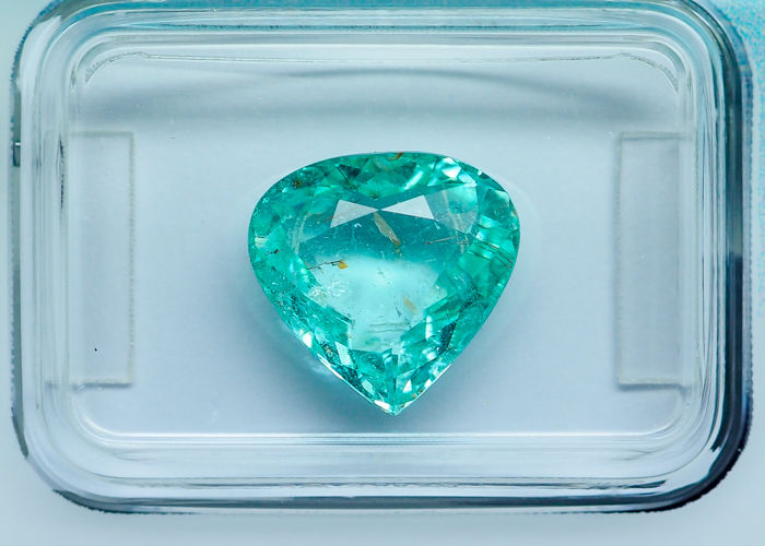 Greenish Blue - Paraiba Tourmaline - 3.36 ct - No Reserve
