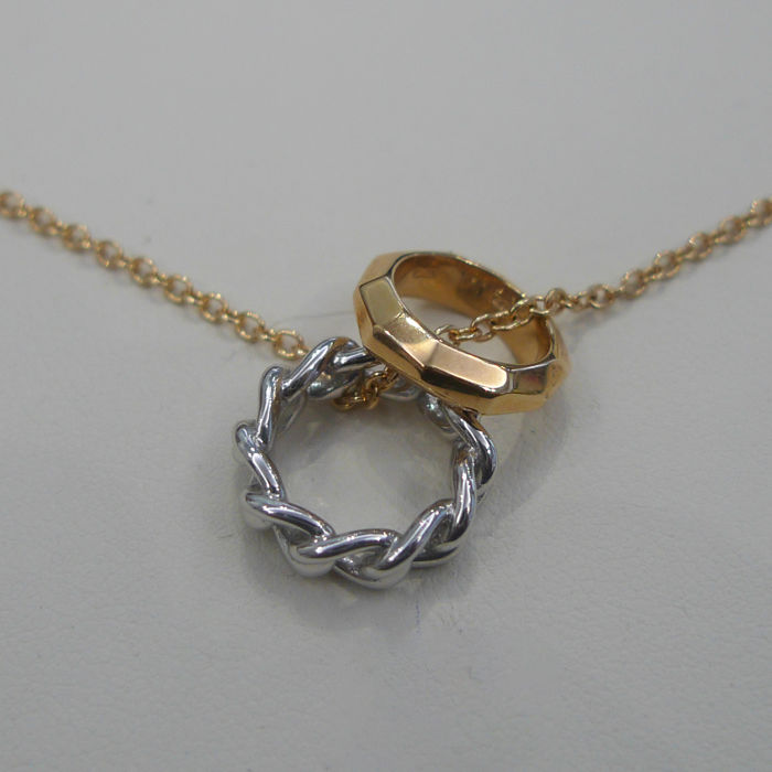 Pomellato Milano - Necklace with pendants Ring white gold and rose gold
