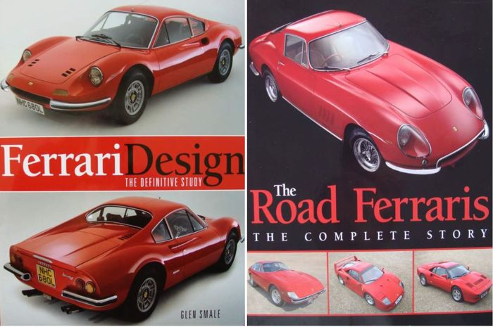 2 boeken: The Road Ferraris, The Complete Story & - Ferrari Design, The Definitive Study - 2013 (2 items)