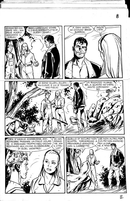 Brad Barron #3 - Giancarlo Caracuzzo - 3x original pages  - First edition - (2005)