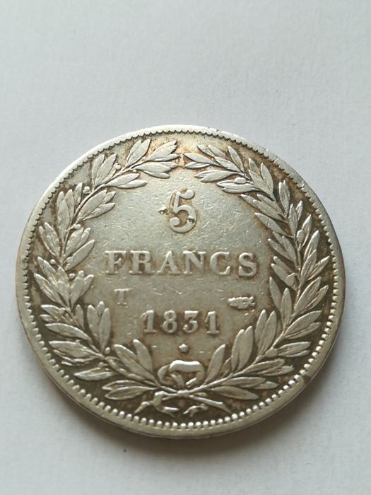 France - 5 Francs 1831-M Louis Philippe I - silver
