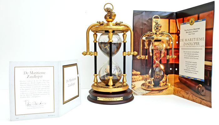 National Maritime Historical Society & TFM - The Maritime Hour Glass - 24 Carat Gold plated