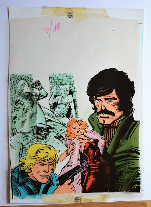 LancioStory  #16 - Fernandez Angel Lito - original cover - Loose page - First edition - (1978)