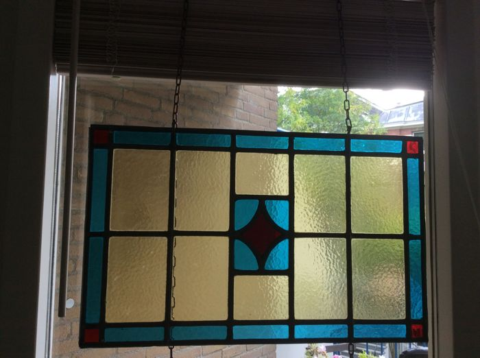 Art Deco Stijl : Art deco stijl glas in lood geometrische motieve stained glass