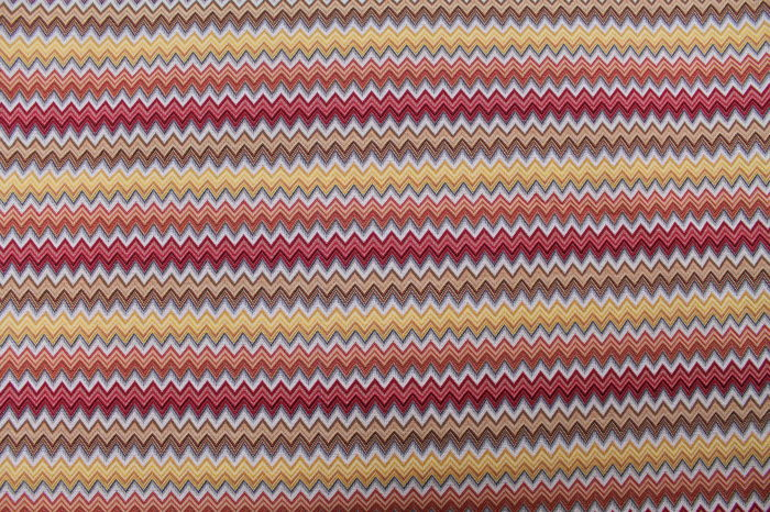 5.00 x 1,40 meters !!! Fantastic fabric with chevron pattern, made in italy remember missoni style - Cotone, Resina/Poliestere - Fine XX secolo