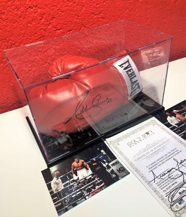 Anthony Joshua Signed Boxing Glove In Display Case +Coa