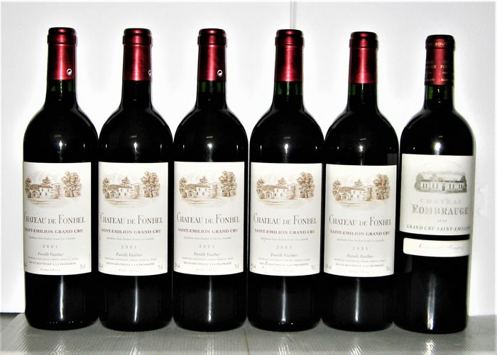 2001 Château de Fonbel Saint-Emilion Grand Cru x 5 bottles -  2003 Château Fombrauge Saint-Emilion Grand Cru x 1 bottle / 6 bottles in total