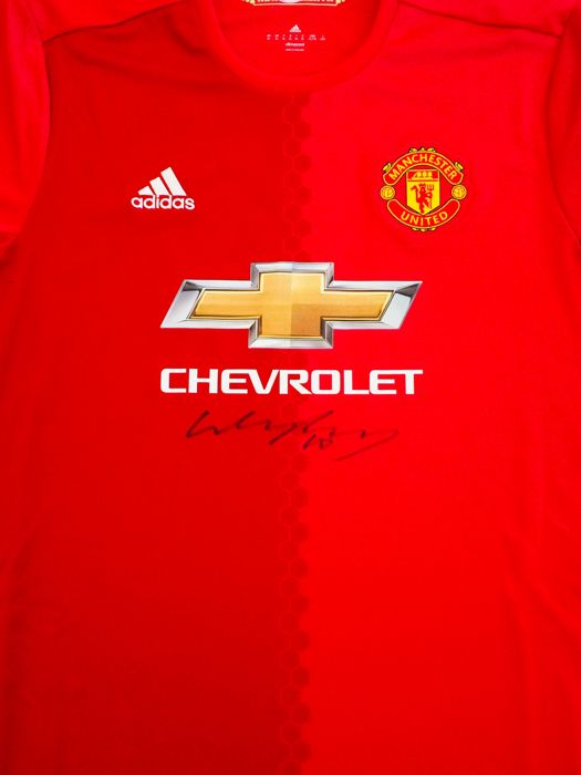 f7510690760 Wayne Rooney Rooney #10 - Authentic & Original Signed Manchester United  Home Jersey - with