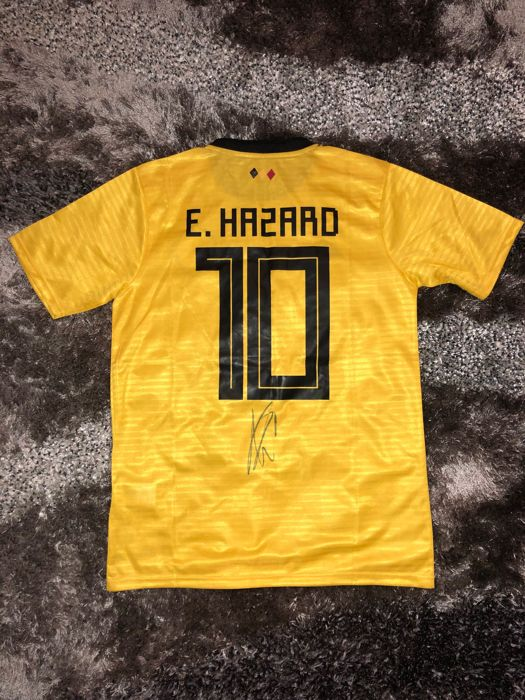 online retailer 3d9e4 dd05e Signed Eden Hazard Belgium Away World Cup Shirt 2018 Proof ...