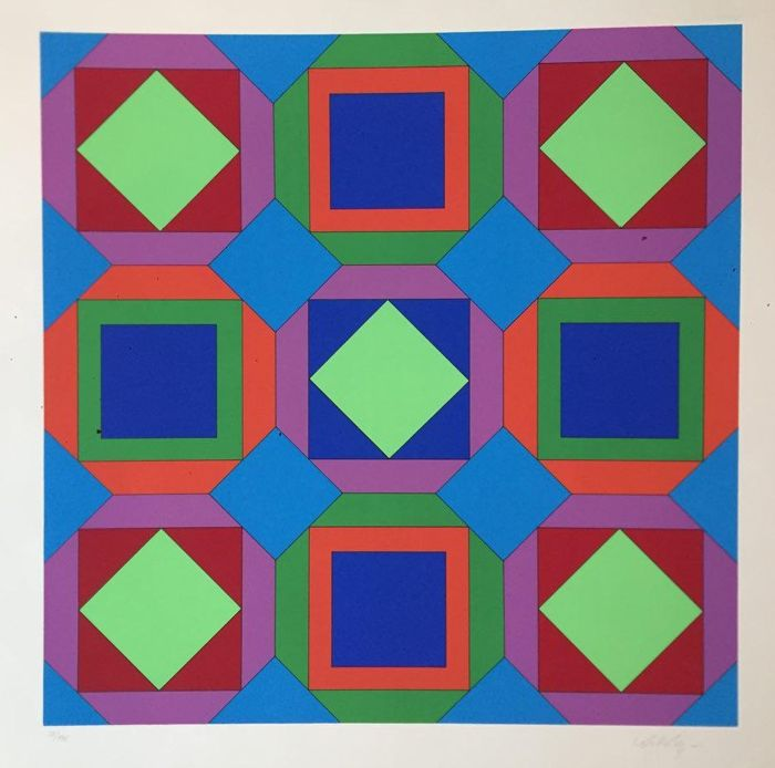 Victor Vasarely - Composition G