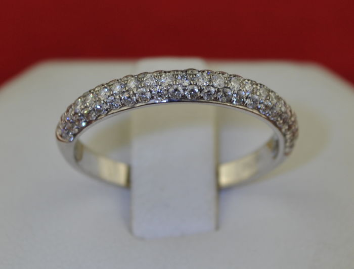 Anillo - Oro blanco - Diamante