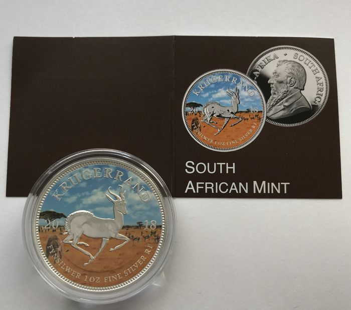South Africa - 1 Krugerrand 2018 - Color Edition - 1 oz - Silver