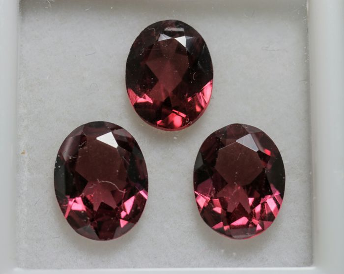 Rhodolite Garnet - 5.3 ct Total - 3 pieces