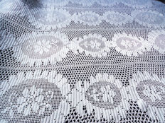 Entirely Hand Crocheted - Bedspread - Pamut