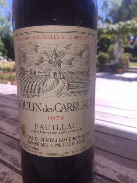 1974 Moulin des Carruades, 2nd wine of Ch. Lafite Rothschild, Pauillac - 1 bottle