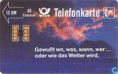 Phone cards - Deutsche Bundespost - Gewitterhimmel