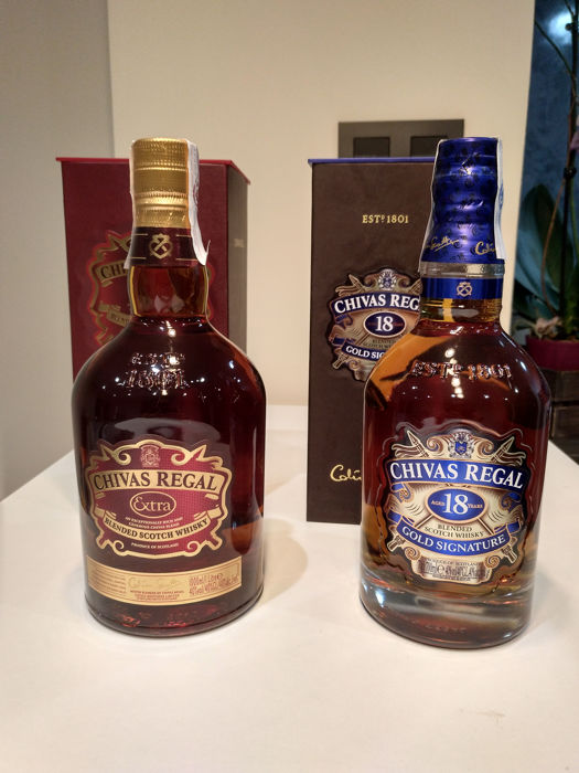 2 bottles chivas regal extra 1 liter chivas regal 18 years old catawiki - Chivas regal 18 1 liter price ...