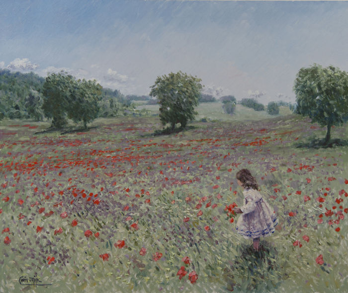"Chris van Dijk -  """"Girl in the poppyfields"""""