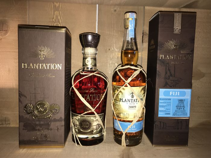 "Plantation - ""XO 20th anniversary"" & ""2009 Fiji grand terroir"" - 70cl - 2 bottles"