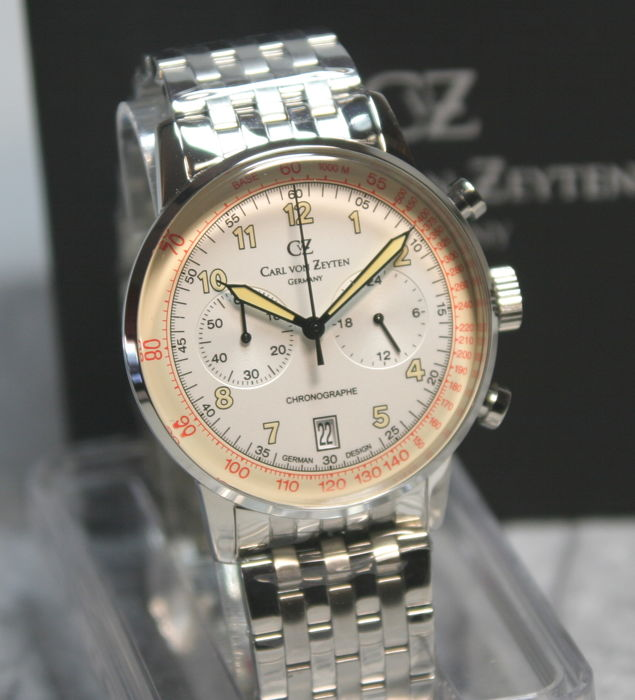 Carl van Zeyten - Chronograph Made in Germany ungetragen - CvZ 0020 WHMB - Homem - 2011-presente