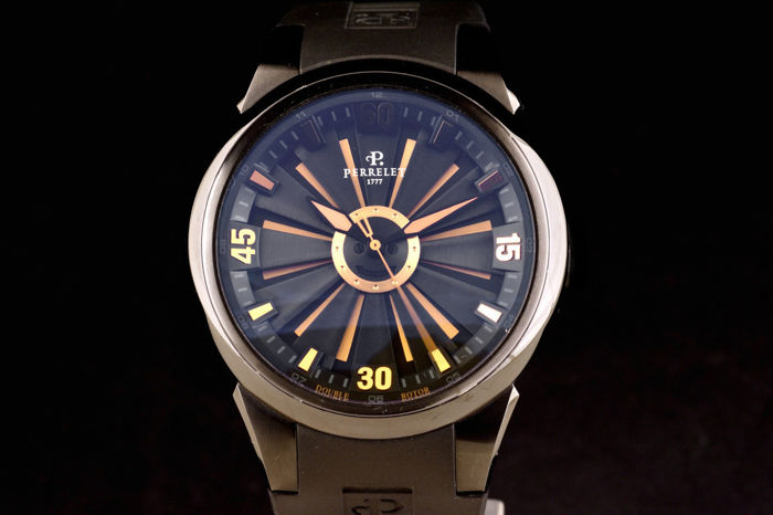 """Perrelet - Double Rotor Turbine Automatic Limited Edition - """"NO RESERVE PRICE"""" - A8008 - Men - 2000-2010"""