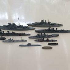 11 Wiking ship models scale 1: 1250