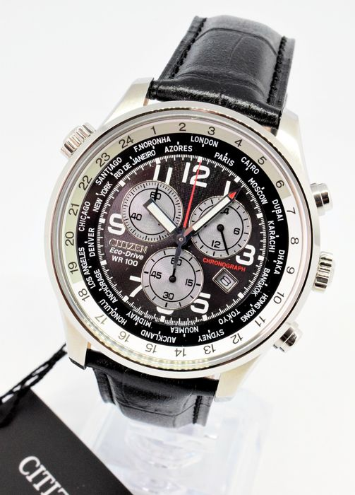 Citizen - Eco-Drive World Time Chronograph - Homme - 2011-aujourd'hui