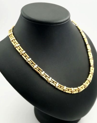 CHIMENTO - Women's necklace in 18 kt yellow and white gold - Length: 40.00 cm