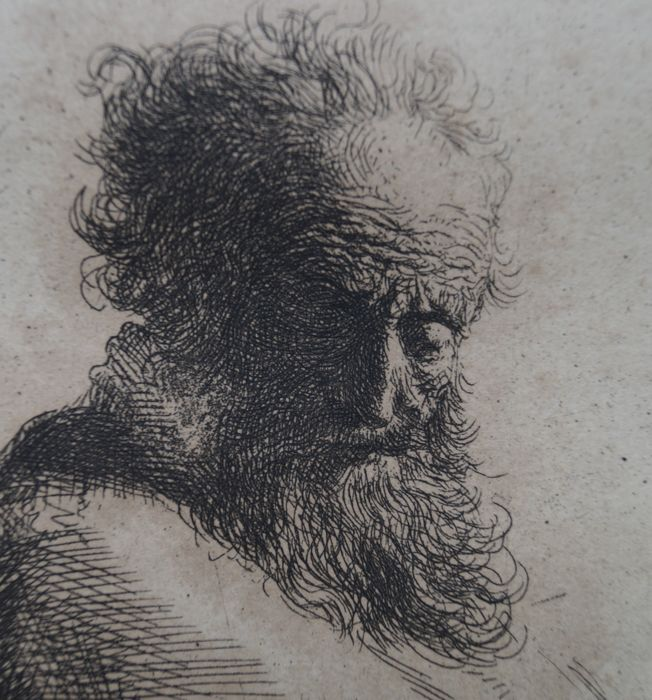 After Rembrandt Harmensz Van Rijn 1606 1669 Bust Of Old Catawiki
