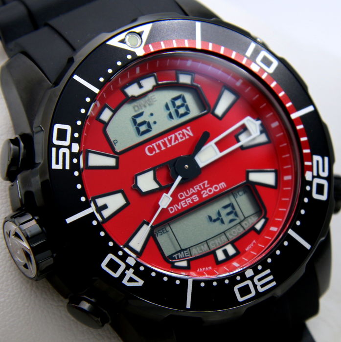 """Citizen - Aqualand Promaster Diver's 200M """"Red Dial"""" - New - Heren - 2011-heden"""