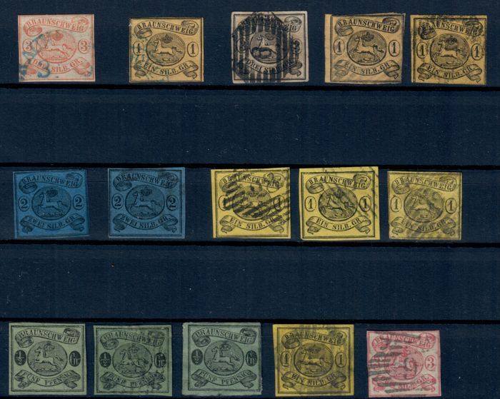 Statele germane 1850/1890 - collection with among others Braunschweig, Baden, Bayern
