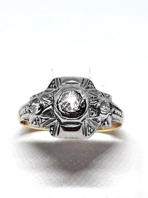 Ring, 1940s - 8 kt gold - Size 17 mm