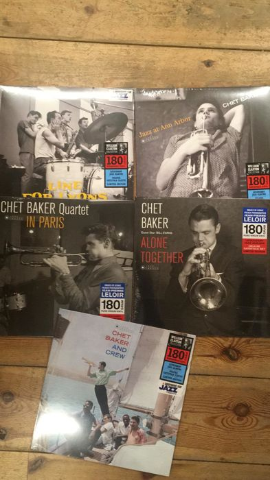 Five albums of Chet Baker || Limited editions || 180 gram || Legendary jazz albums || Deluxe gatefold