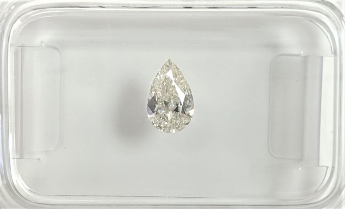 0.31 ct - Natural Pear Diamond - H Color - VS2 - GEEN RESERVE!