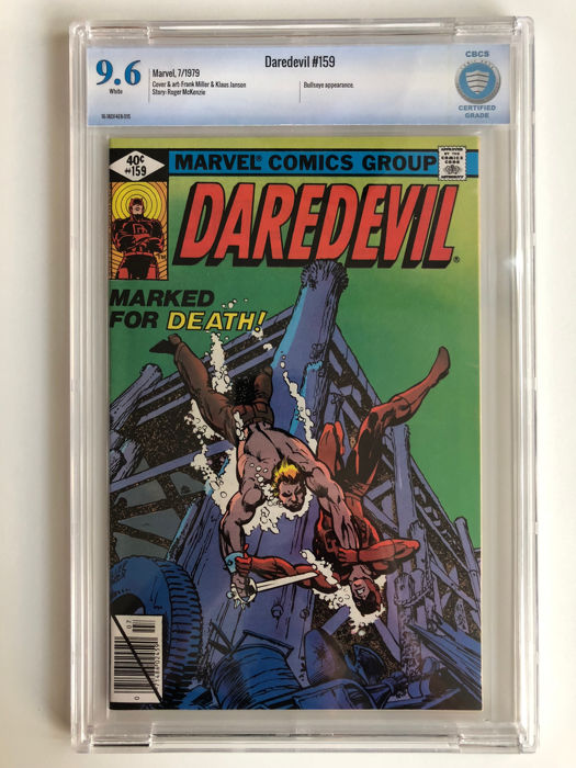 Daredevil #159 - 2nd Frank Miller Issue! Bullseye Appearance -  CBCS Graded 9.6! - Extremely High Grade!!! - Softcover - First edition - (1979)