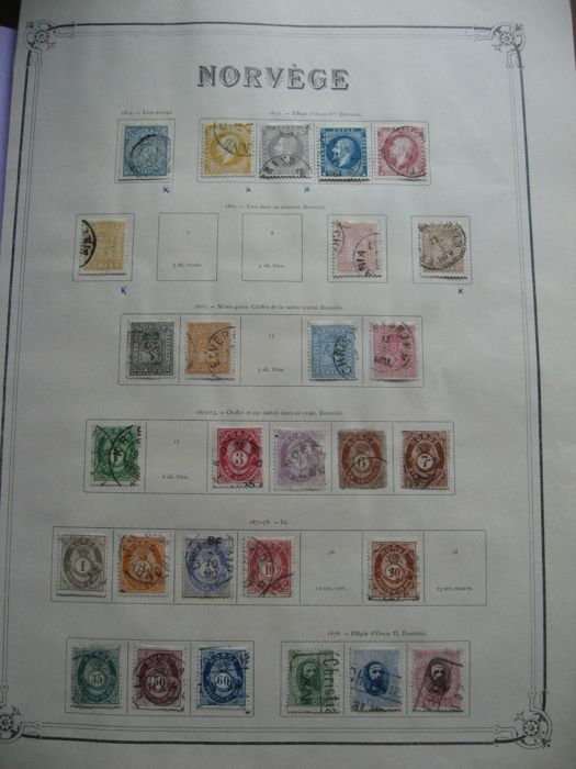 Norway 1854/1913 - Collection of stamps including tax stamps