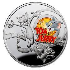 Niue - 1 Dollar 2013 Cartoon Characters - Tom and Jerry - 1/2 oz - Argent