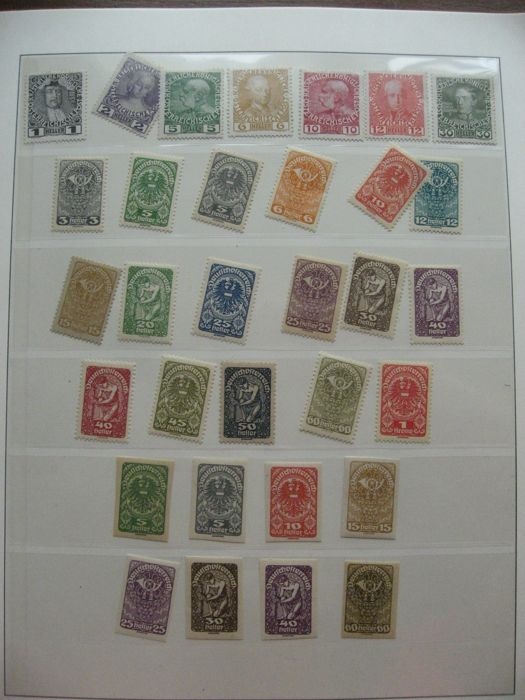 Austria, Belgium, Holland and other countries 1850/1990 - Stamp collection in 2 albums